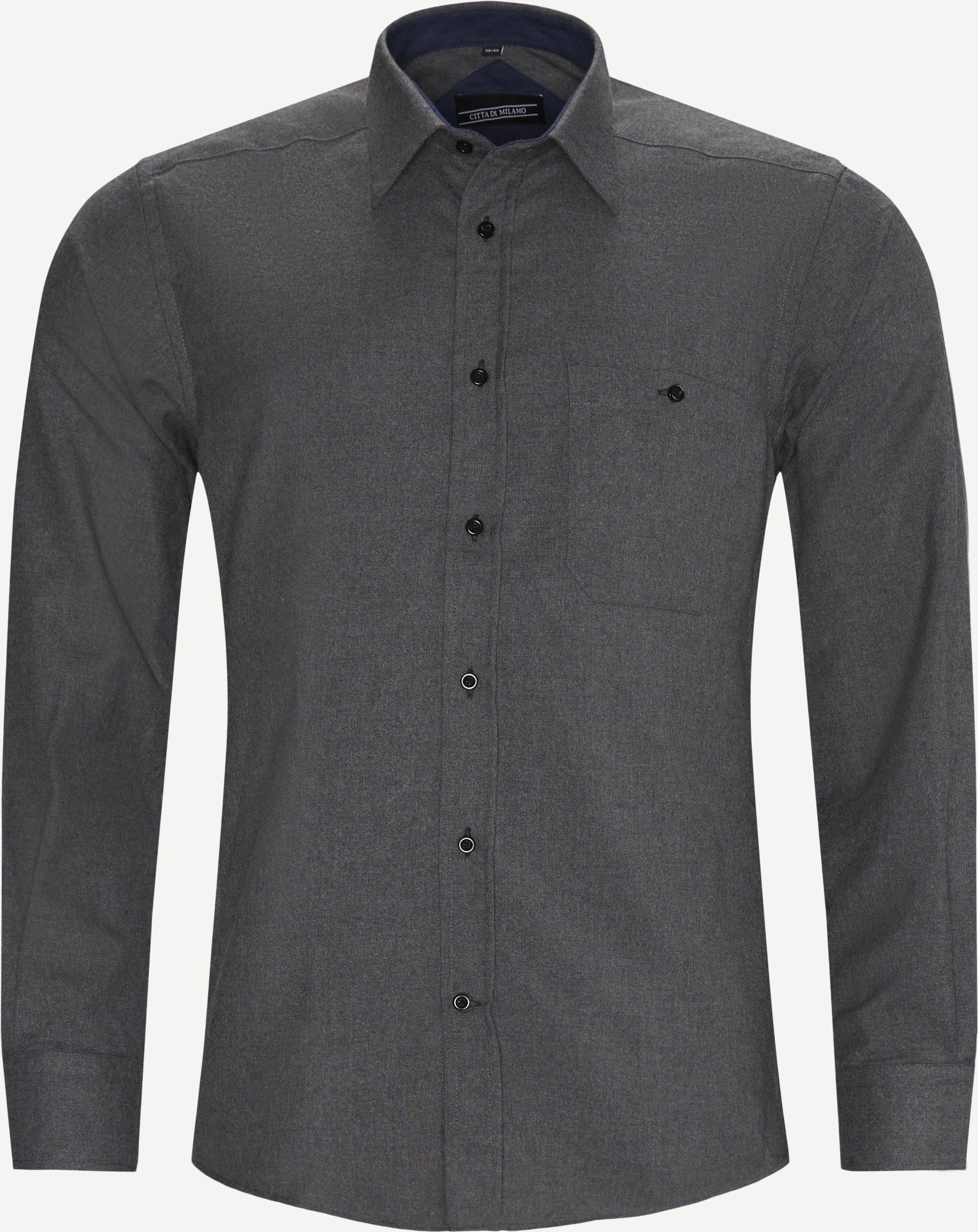 Hemden - Regular - Grau